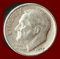 1953-D ROOSEVELT 90 SILVER DIME SHIPS FREE. BUY 5 FOR $2 OFF