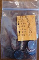 LOT OF 23 COINS D   PENNIES DATE RANGE OF 1980 1988