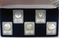 {BJSTAMPS} 2011  SILVER EAGLE 25TH ANNIVERSARY SET 1ST STRIKE MERCANTI PCGS MS70