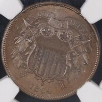 1864 TWO CENT NGC MINT STATE 64BN