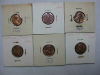 A LOT OF 6  U.S UNCIRCULATED CENTS   COMBINE SHIPPING AVAILABLE   C 41