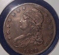 1834 50C CAPPED BUST HALF DOLLAR  BEAUTIFUL NATURAL TONE  SHE IS A BEAUTY