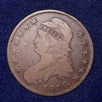 1818 50C OVERTON 111 CAPPED BUST HALF DOLLAR SPIKE  NICE NATURAL COLOR/TONE