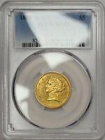 1850 PCGS MS62 $5 GOLD NO MOTTO HALF EAGLE    POPULATION ONLY 5 NONE HIGHER