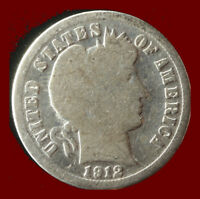 1912-P BARBER 90 SILVER DIME SHIPS FREE. BUY 5 FOR $2 OFF