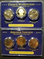 PRESIDENTIAL $1 COIN SETS 2007 - 2012;  BU P & D AND PROOF SF; 20 SETS