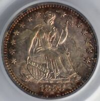 1858-O H10C SEATED LIBERTY HALF DIME PCGS MINT STATE 63 CAC