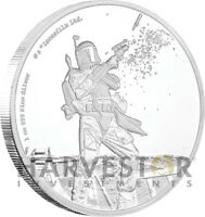 STAR WARS CLASSICS: BOBA FETT   1 OZ. SILVER COIN   WITH OGP COA   10TH IN SET