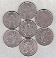SEVEN HALF CROWNS 1947 TO 1967 IN NEAR LY FINE TO NEAR MINT