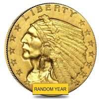 SALE PRICE $2.5 GOLD QUARTER EAGLE INDIAN HEAD ALMOST UNCIRCULATED  RANDOM YEAR