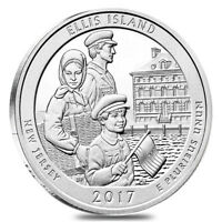 2017 5 OZ SILVER AMERICA THE BEAUTIFUL ATB NEW JERSEY ELLIS ISLAND  STATUE OF