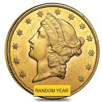 $20 GOLD DOUBLE EAGLE LIBERTY HEAD   ALMOST UNCIRCULATED AU  RANDOM YEAR