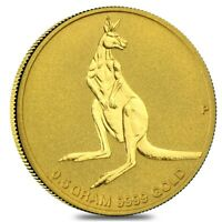 0.5 G AUSTRALIAN GOLD MINI ROO PERTH MINT COIN BU IN CAP .9999 FINE  RANDOM