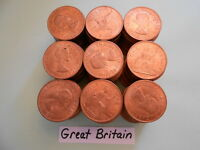 WORLD COIN LOT:  180 UNC 1967 BRITISH LARGE PENNIES