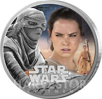 STAR WARS THE FORCE AWAKENS   REY   1 OZ. SILVER PROOF COIN
