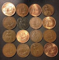 VINTAGE GREAT BRITAIN COIN LOT   16 GREAT HALF PENNIES   189