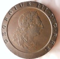 1797 GREAT BRITAIN 2 PENCE   GORGEOUS COIN   HARD TO FIND HU