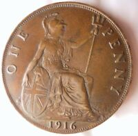 1916 GREAT BRITAIN PENNY   HIGH GRADE    STRONG VALUE   GREA