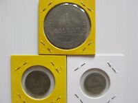 VERY RARE INDONESIA PLANTATION TOKEN 1/10 1/5 AND 1 DOLLARS.