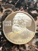1818 1883RUSSIA USSR PROOF 1 ROUBLE  100TH ANNIVERSARY OF THE DEATH OF KARL MARX