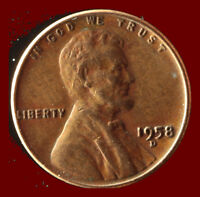 1958 D WHEAT CENT SHIPS FREE. BUY 5 FOR $2 OFF