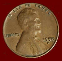 1958 D WHEAT CENT. BUY ANY 3 FOR $1 OFF. SHIPS FREE. NR
