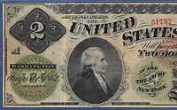 1862 $2 LEGAL TENDER  FR 41A    CHITTENDEN&SPINNER PMG VF 25
