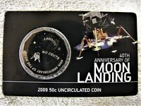 2009 MOON LANDING SPECIMEN UNCIRCULATED 50 CENT COIN IN CAR