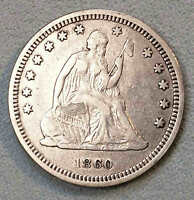 1860 SEATED QUARTER VF  TO XF SHARP LINCOLN ELECTION