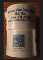 200 USPS FOREVER STAMPS  2 ROLLS OF 100  ROLL USA  FLAG COIL $$$$$ SAVE  $$$$$$