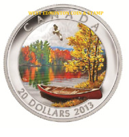 2013 $20 FINE SILVER COIN AUTUMN BLISS LIMITED MINTAGE OF 7 500