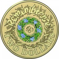 NEW 2017 COLOURED REMEMBRANCE DAY $2 TWO DOLLAR AUSTRALIAN COIN UNC