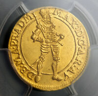 Click now to see the BUY IT NOW Price! 1612 TEUTONIC KNIGHTS MAXIMILIAN III. GOLD DUCAT COIN.   PCGS MS 61
