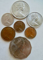AUSTRALIA COIN COLLECTION DATED FROM 1966 TO 1971    NEW ZEA