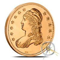 1 OZ COPPER ROUND   CAPPED BUST HALF