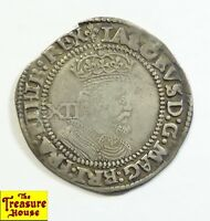 1623 1624  THIRD COINAGE 6TH BUST IACOBVS JAMES I XII 1 SHIL