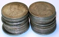 LOT OF  25  AUSTRALIA 1 FLORIN STERLING SILVER 925 COINS 191