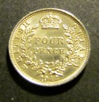 1942 GEORGE V1 BRITISH GUYANA 4D FOUR PENCE SILVER COIN