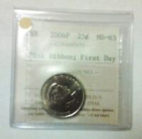 2006 P HIGH GRADE CANADA QUARTER. PINK RIBBON. FIRST DAY.