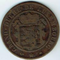 LUXEMBOURG 10 CENTIMES 1865 A AF WE3377