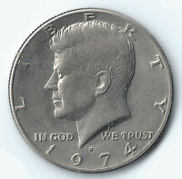 1974 JOHN F. KENNEDY HALF DOLLAR CIRCULATED US COIN FIFTY  50  CENTS UNGRADED