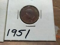 2 CANADIAN PENNYS A1943 & A 1951 UNCIRCULATED CONDITION