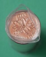 2012 CANADA NON MAGNETIC 1 CENT FULL ROLL  50 COINS  MINT WRAPPED
