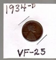 1934 D LINCOLN CENT ONE WHEAT CENT