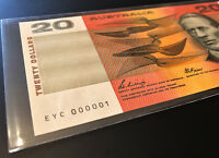 $20 NOTE    NUMBER ONE SERIAL    EYC 000001    1989 PHILLIPS