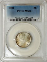 1902 PCGS MINT STATE 66 LIBERTY NICKEL, ABSOLUTELY SUPERB LUSTROUS GEM, GREAT EYE APPEAL