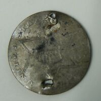 1856 3 CENT SILVER   HOLED   3C COIN