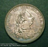 A/UNC 1804 BANK DOLLAR. GRADED AND ENCAPSULATED CGS75. MS62
