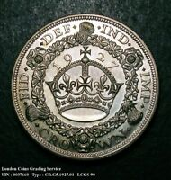 NFDC PROOF 1927 CROWN. LCGS GRADED AND ENCAPSULATED. LCGS90