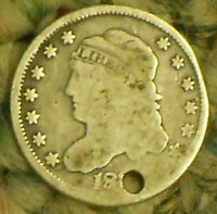183?-P CAPPED BUST SILVER HALF DIME.  SHIPS FREE